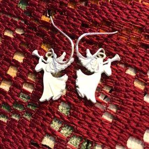 Avon Holiday Christmas Angel Dangle Earrings